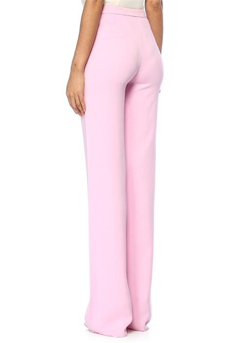 Pembe Yüksek Bel Boru Paça Pantolon