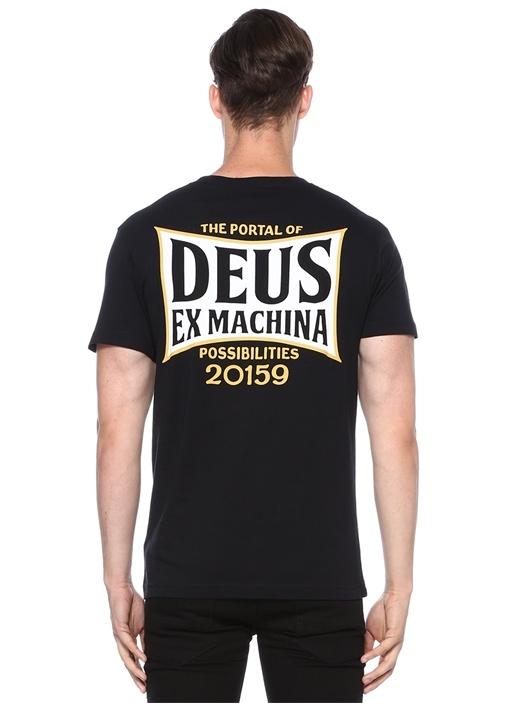 Regular Fit Tinbox Siyah Bisiklet Yaka T-shirt
