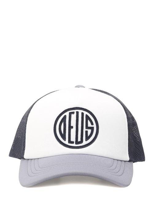 Mavi Beyaz File Detaylı Logolu Erkek Şapka