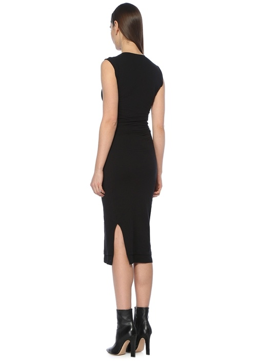 Gamma Siyah Midi Elbise