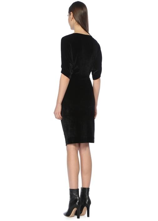 Sina Siyah Mini Elbise