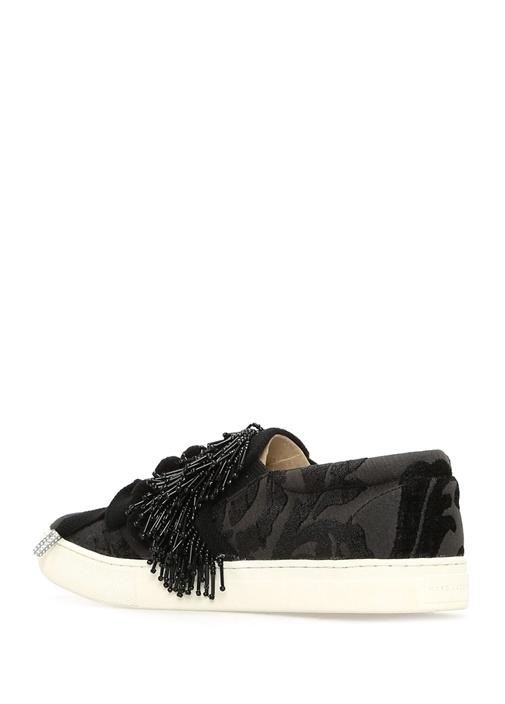 Mercer Pom Pom Siyah Kadın Sneaker