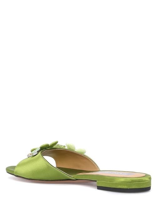 Clara Yeşil Kadın İpek Terlik