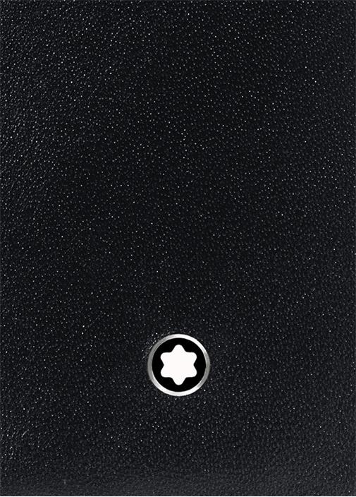 Meisterstück Siyah Logolu Deri Cüzdan