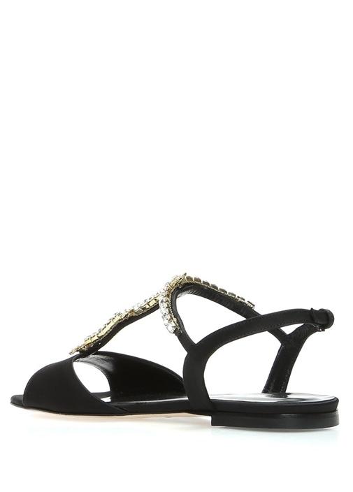 Siyah Saten Sandalet