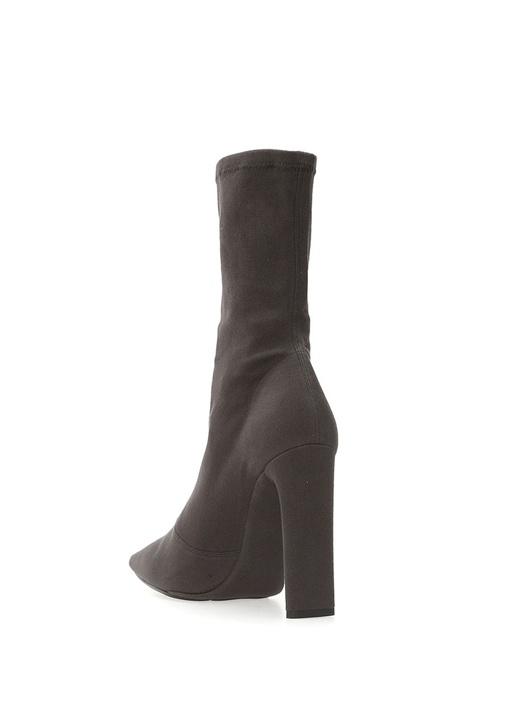 Antrasit Çorap Formlu Kadın Kanvas Bot