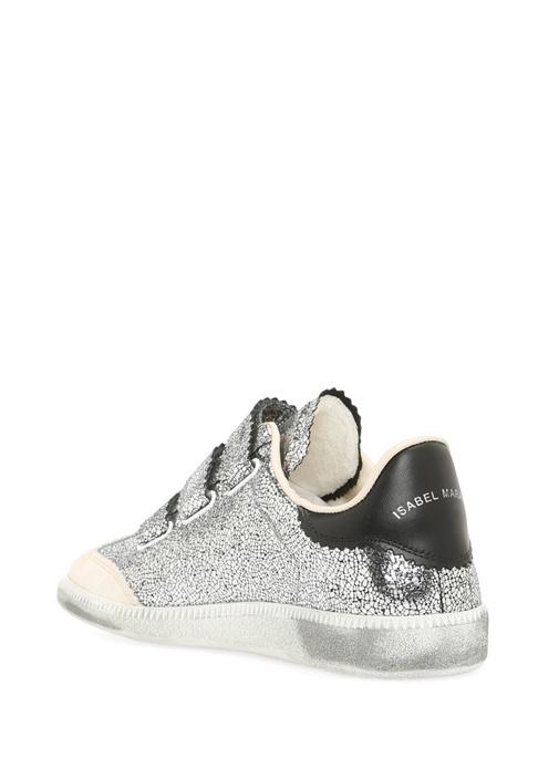 Beth Koyu Gri Deri Kadın Sneaker