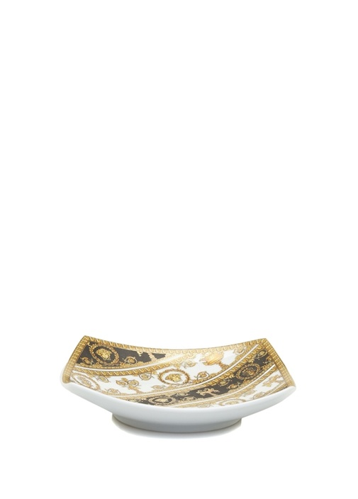 I Love Baroque Gold Siyah Baskılı Porselen Tabak