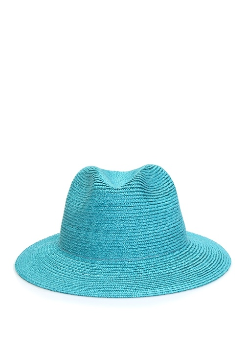 Mavi Dokulu Kadın Hasır Şapka