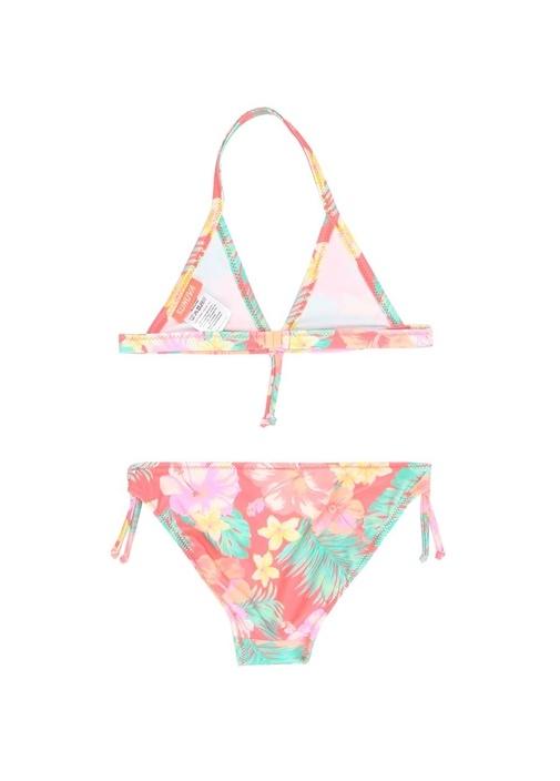 Aloha Neon Çiçek Desenli Kız Çocuk Bikini Takımı