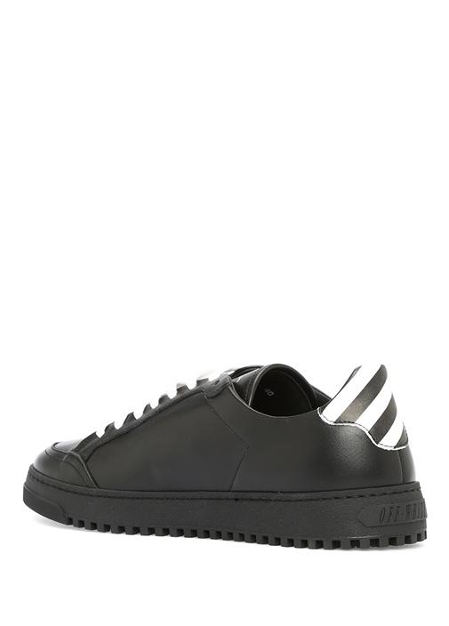 Juta Siyah Deri Kadın Sneaker