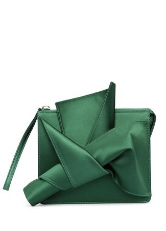 N21 Yeşil Saten Kadın Clutch