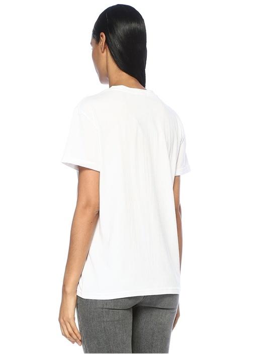 Nico Beyaz Fotoğraf Baskılı T-shirt