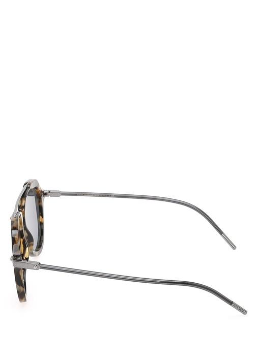 Tortoise Çerçeveli Pilot Stili Erkek Güneş Gözlüğü