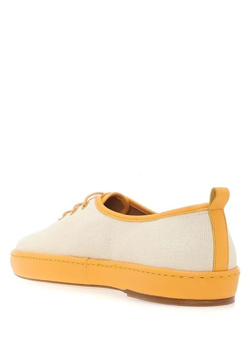 Port Lugat Sarı Deri Detaylı Kadın Sneaker