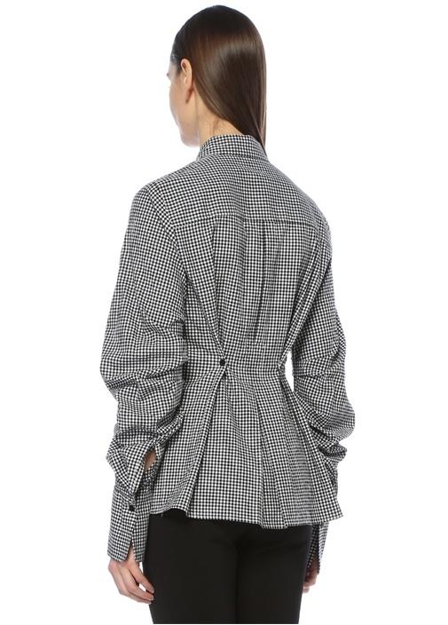 Siyah Beyaz Pötikareli Gömlek