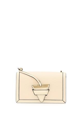 Loewe Kadın Altın Rengi Deri Çanta Beyaz Ürün Resmi