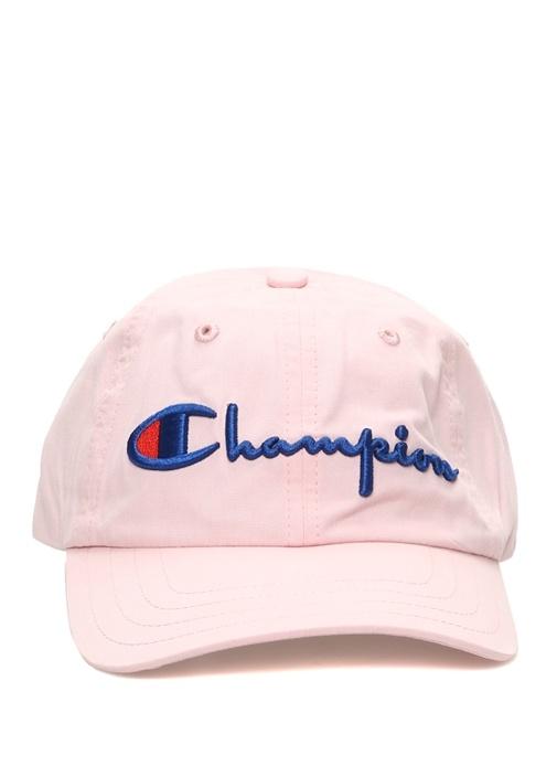 Pembe Logo Nakışlı Kadın Şapka