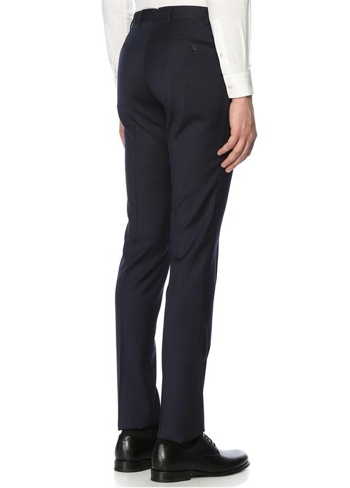 Lacivert 8 Drop Pilesiz Pantolon