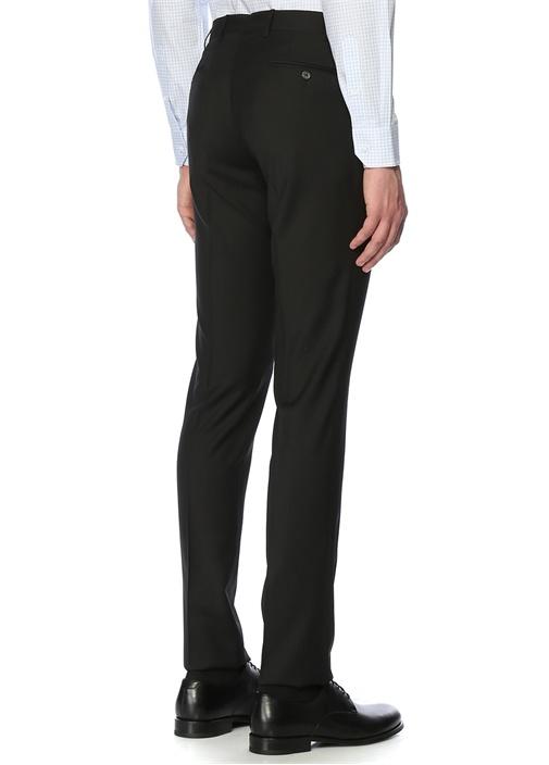 Siyah 8 Drop Pilesiz Pantolon