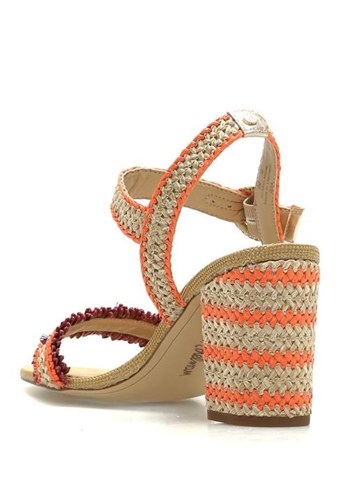 Olisa Bej Turuncu Kadın Sandalet