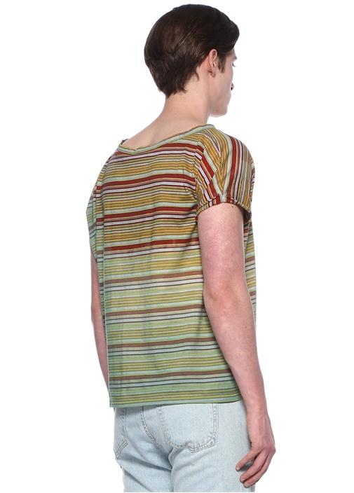 Colorblocked Bisiklet Yaka Basic T-shirt