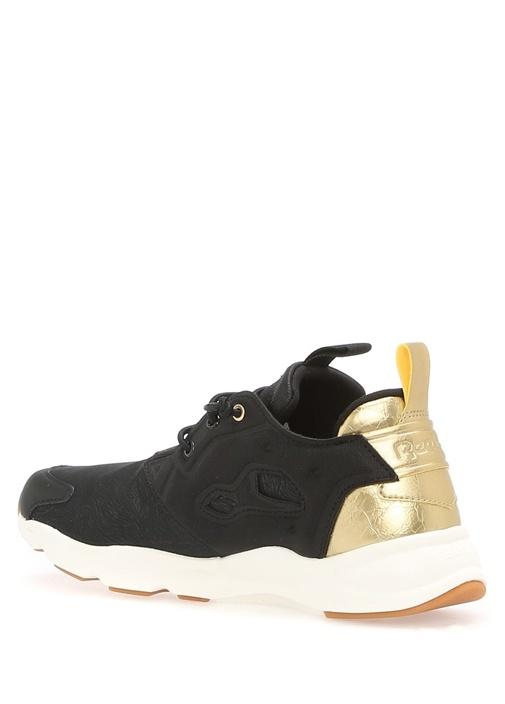 Furylite Siyah Gold Detaylı Kadın Sneaker