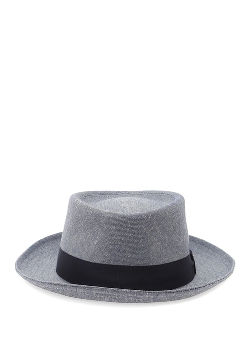 Mavi Lacivert Şeritli Erkek Şapka