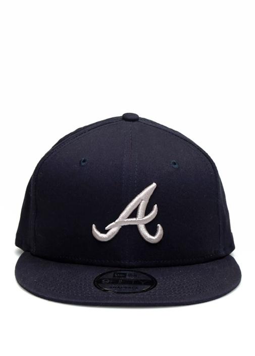 Lacivert Harf Nakışlı Erkek Şapka