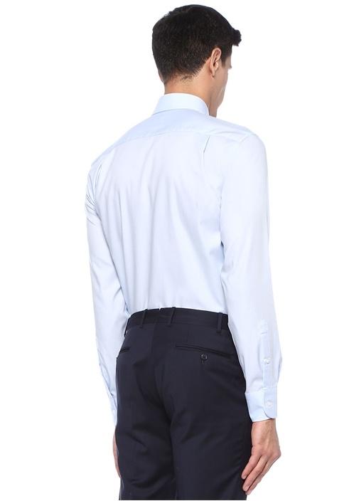 Non Iron Comfort Fit Mavi Klasik Yaka Gömlek