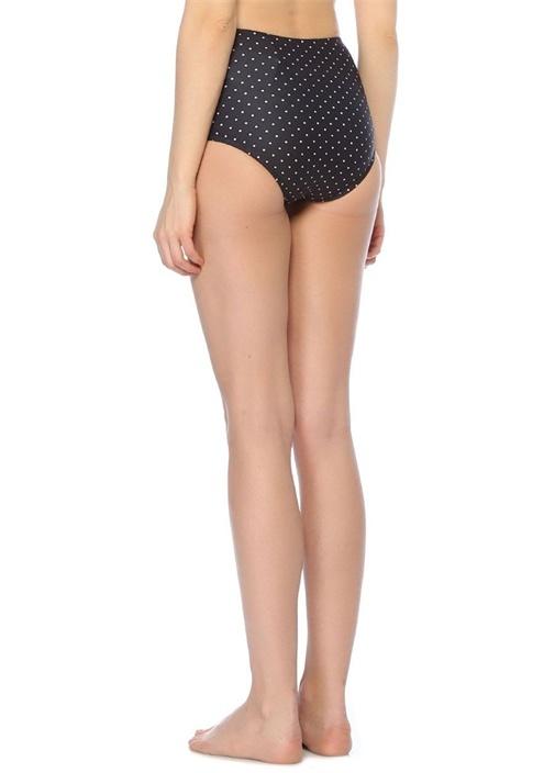 Yüksek Bel Siyah Puantiyeli Bikini Altı