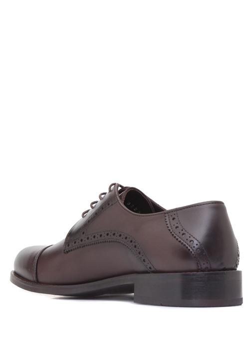 Kahverengi Erkek Klasik Oxford Deri Ayakkabı