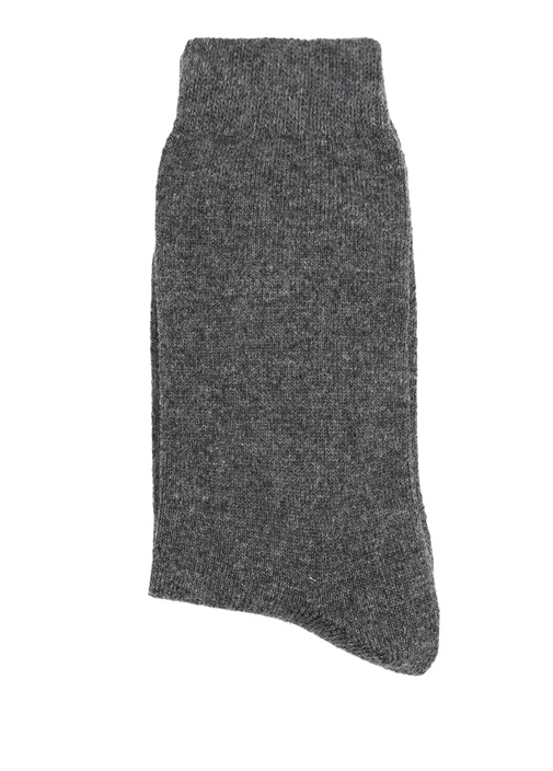Siyah Gri Dokulu 2li Kadın Çorap Seti