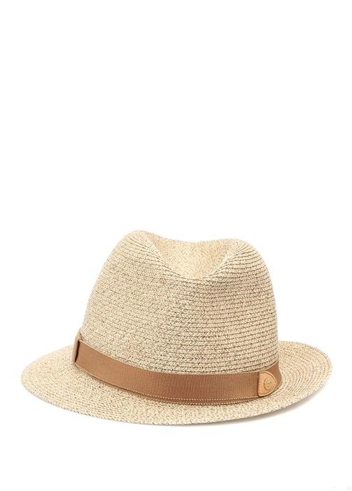 Bej Kemer Detaylı Kadın Şapka