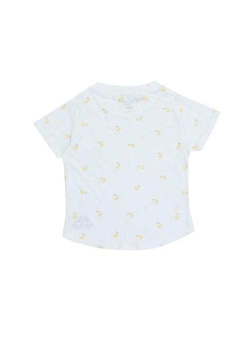 Beyaz Limon Baskılı Unisex Çocuk Basic T-shirt