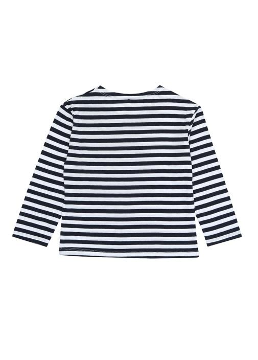 Lacivert Çizgili Uzun Kollu Unisex Çocuk T-shirt