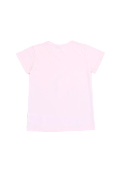 Pembe Flamingo Baskılı Kız Çocuk T-shirt