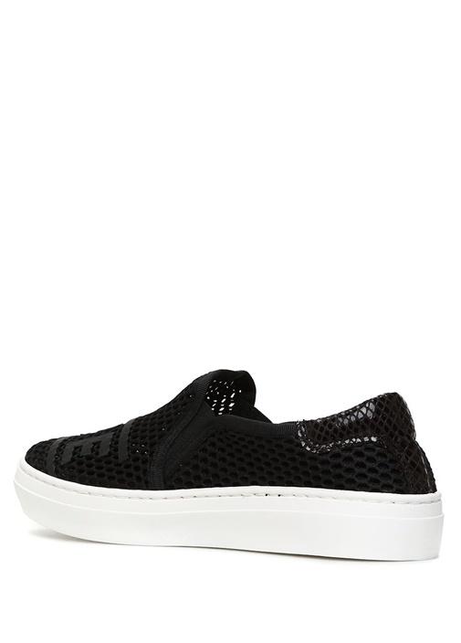 Awesome Mesh Siyah File Dokulu Kadın Sneaker