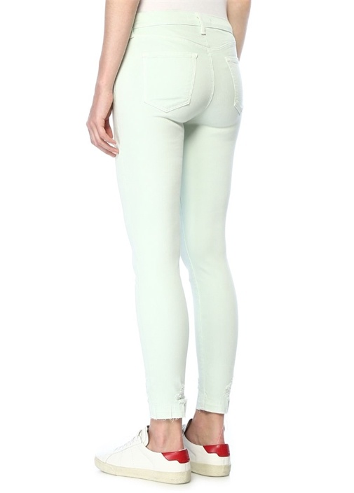 Alana Yeşil Yüksek Bel Crop Skinny JeanPantolon
