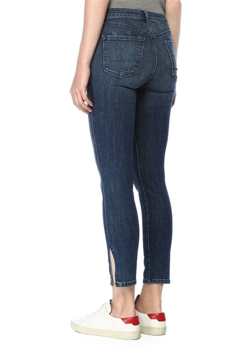 Alana Yüksek Bel Crop Jean Pantolon