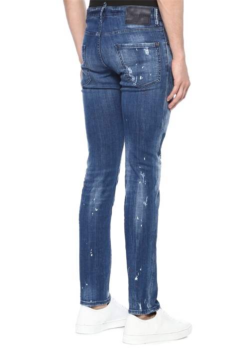 Cool Guy Mavi Normal Bel Fırça Darbeli Jean