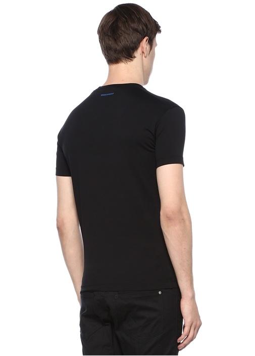 Siyah Yazı Baskılı T-shirt