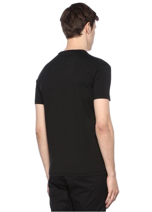 Siyah Pul Payet İşlemeli Basic T-shirt