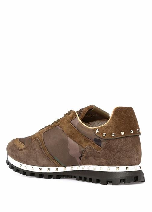 Valentino Garavani Kamuflaj Erkek Deri Sneaker