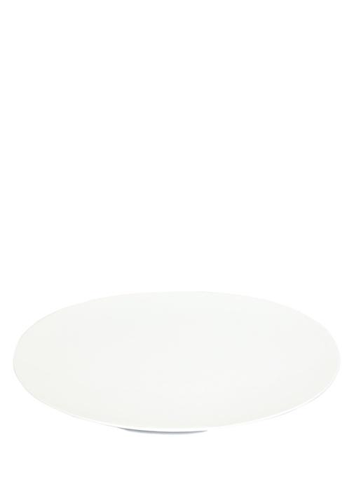 Beyaz Porselen Servis Tabağı