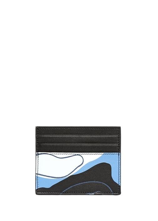 Valentino Garavani Mavi Kamuflajlı Erkek Kartlık