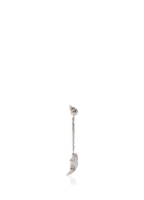 Silver Kanat Formlu Kadın Küpe