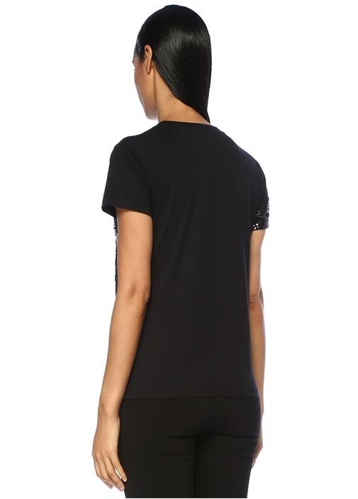 Siyah Logo İşlemeli T-shirt