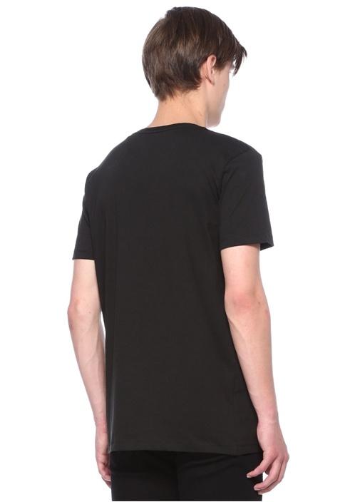 Siyah Baskılı Logolu Basic T-shirt