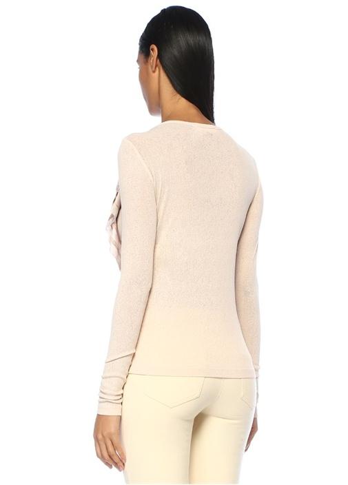 Somon Fırfır Detaylı Uzun Kol Bluz